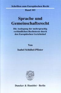 Cover Sprache und Gemeinschaftsrecht