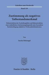 Cover Zustimmung als negatives Tatbestandsmerkmal