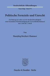 Cover Politische Fernziele und Unrecht