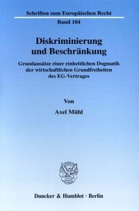Cover Diskriminierung und Beschränkung