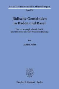 Cover Jüdische Gemeinden in Baden und Basel