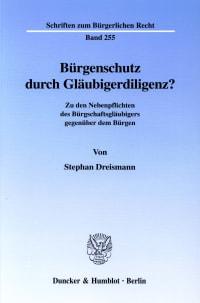 Cover Bürgenschutz durch Gläubigerdiligenz?