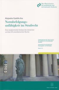 Cover Normbefolgungsunfähigkeit im Strafrecht