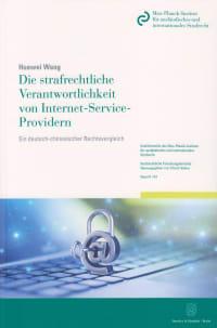 Cover Die strafrechtliche Verantwortlichkeit von Internet-Service-Providern