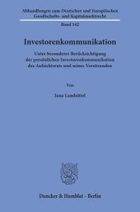 Cover Investorenkommunikation