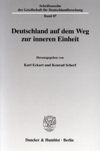 Cover Deutschland auf dem Weg zur inneren Einheit
