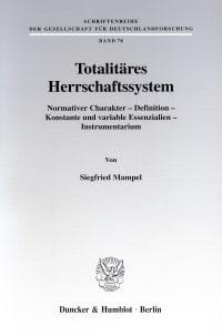 Cover Totalitäres Herrschaftssystem