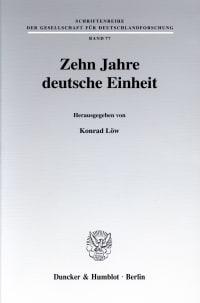 Cover Zehn Jahre deutsche Einheit