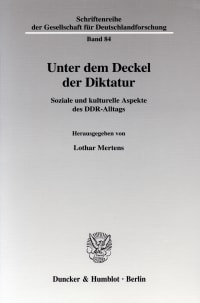Cover Unter dem Deckel der Diktatur