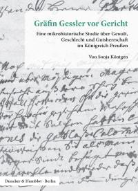Cover Gräfin Gessler vor Gericht