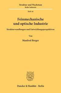 Cover Feinmechanische und optische Industrie