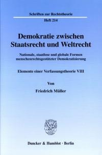 Cover Demokratie zwischen Staatsrecht und Weltrecht