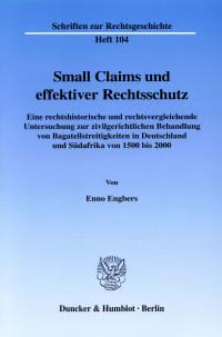 Cover Small Claims und effektiver Rechtsschutz