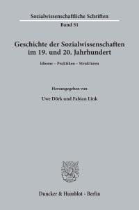 Cover Geschichte der Sozialwissenschaften im 19. und 20. Jahrhundert