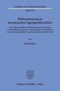 Cover Mitbestimmung in kommunalen Eigengesellschaften