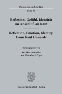 Cover Reflexion, Gefühl, Identität im Anschluß an Kant / Reflection, Emotion, Identity. From Kant Onwards