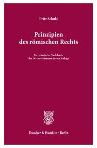 Cover Prinzipien des römischen Rechts