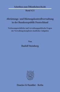 Cover Abrüstungs- und Rüstungskontrollverwaltung in der Bundesrepublik Deutschland