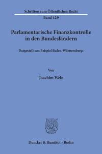 Cover Parlamentarische Finanzkontrolle in den Bundesländern,