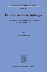 Cover Der Beamte als Staatsbürger