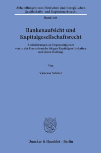 Cover Bankenaufsicht und Kapitalgesellschaftsrecht