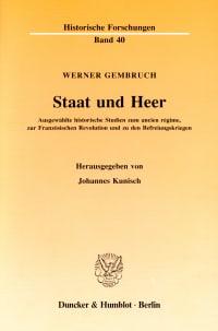 Cover Staat und Heer