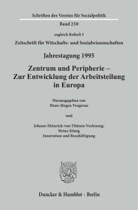 Cover Zentrum und Peripherie - Zur Entwicklung der Arbeitsteilung in Europa