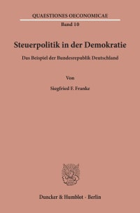 Cover Steuerpolitik in der Demokratie