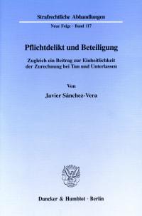 Cover Pflichtdelikt und Beteiligung