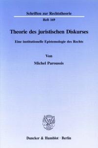 Cover Theorie des juristischen Diskurses