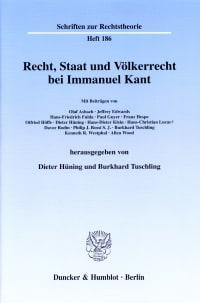 Cover Recht, Staat und Völkerrecht bei Immanuel Kant