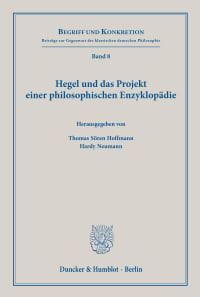 Cover Hegel und das Projekt einer philosophischen Enzyklopädie