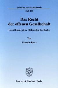 Cover Das Recht der offenen Gesellschaft