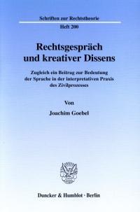 Cover Rechtsgespräch und kreativer Dissens