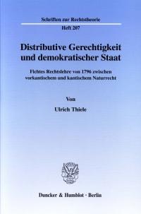 Cover Distributive Gerechtigkeit und demokratischer Staat