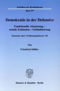 Cover Demokratie in der Defensive