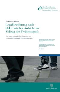 Cover Legalbewährung nach elektronischer Aufsicht im Vollzug der Freiheitsstrafe