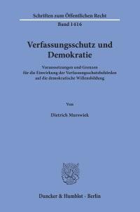 Cover Verfassungsschutz und Demokratie