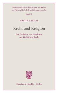 Cover Recht und Religion