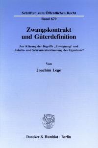 Cover Zwangskontrakt und Güterdefinition