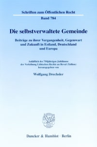 Cover Die selbstverwaltete Gemeinde