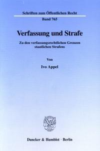 Cover Verfassung und Strafe