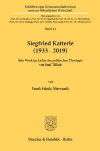 Cover Siegfried Katterle (1933–2019)