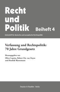 Cover Verfassung und Rechtspolitik: 70 Jahre Grundgesetz