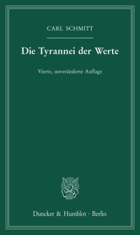 Cover Die Tyrannei der Werte