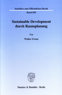 Cover Sustainable Development durch Raumplanung