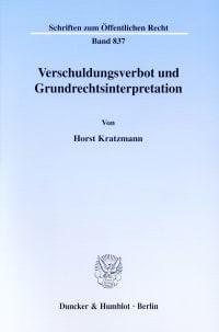 Cover Verschuldungsverbot und Grundrechtsinterpretation