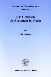 Cover Das Gewissen als Argument im Recht