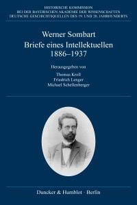Cover Briefe eines Intellektuellen 1886–1937