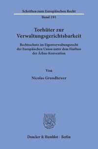 Cover Torhüter zur Verwaltungsgerichtsbarkeit